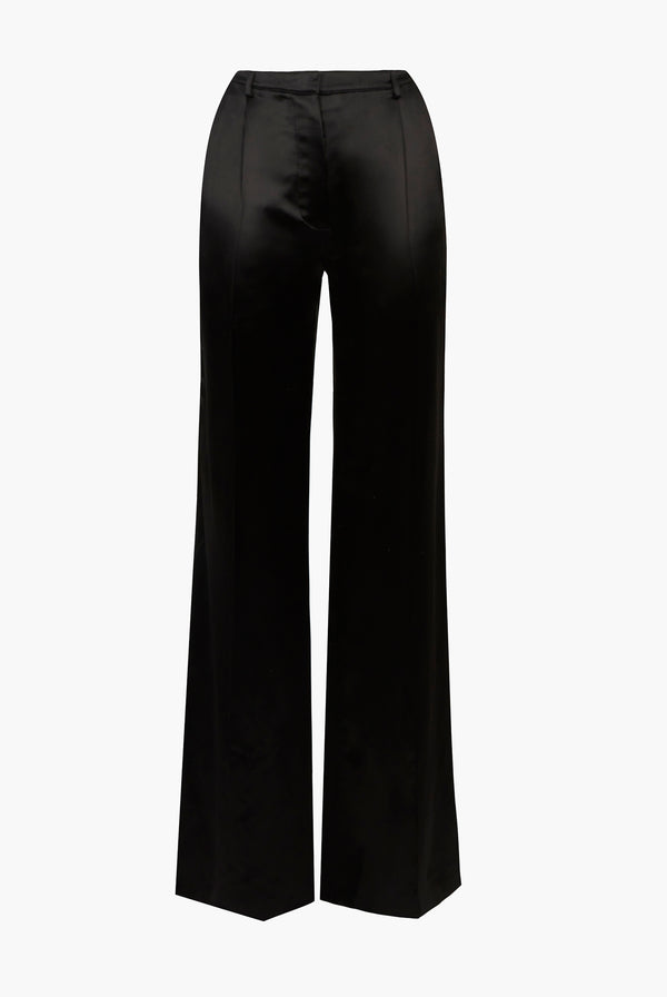 Pantalon Large En Satin