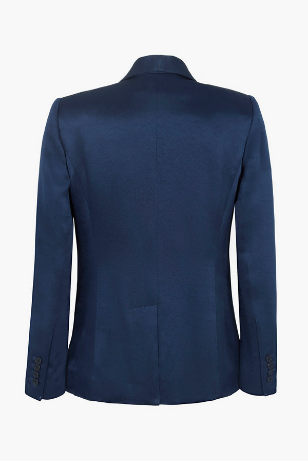 Midnight Blue Satined Jacket