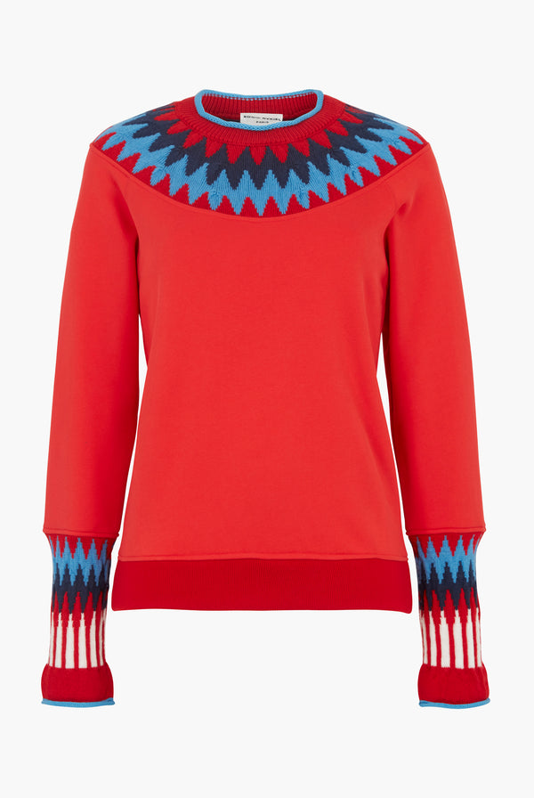 Alpine Sweater in Red Wool