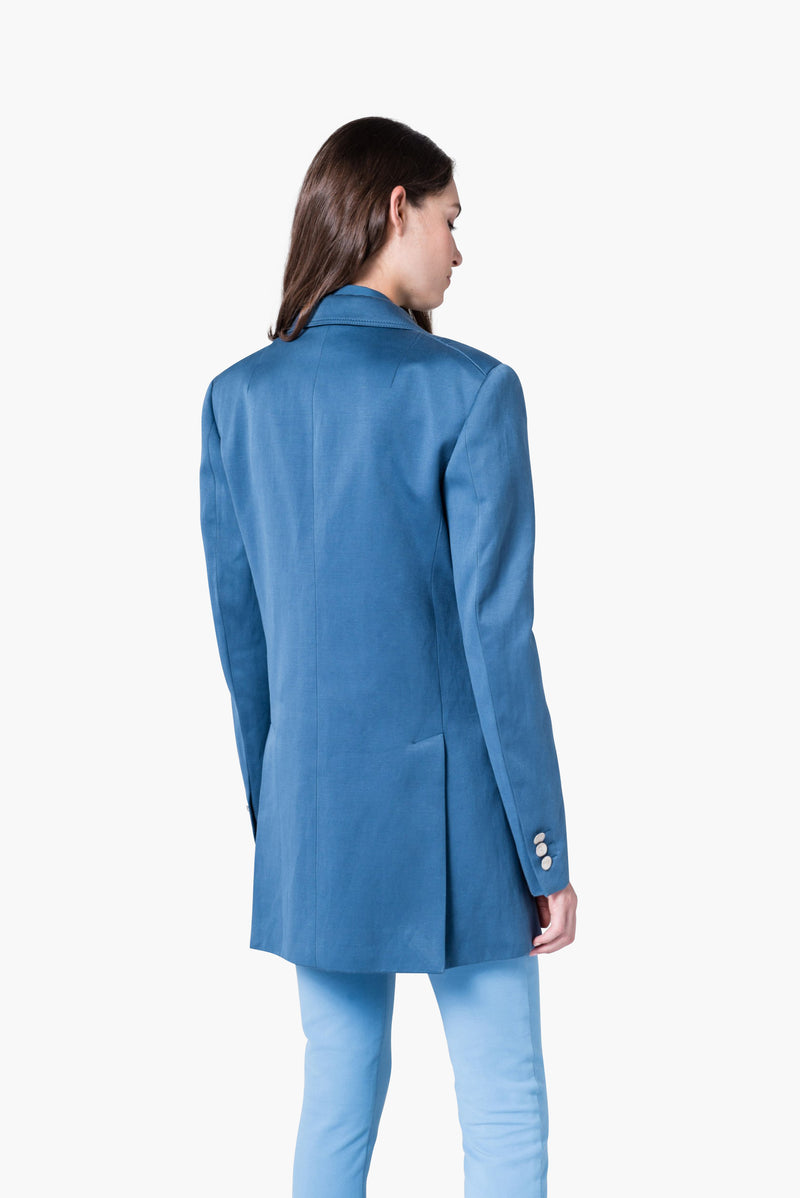 Cotton Tricotine Tailored Jacket