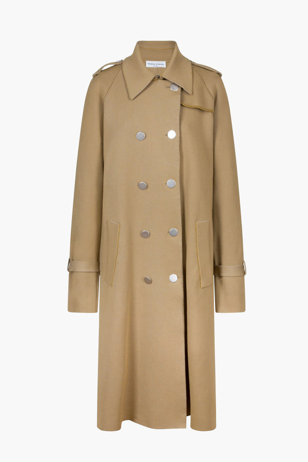 Milano knitted trench coat