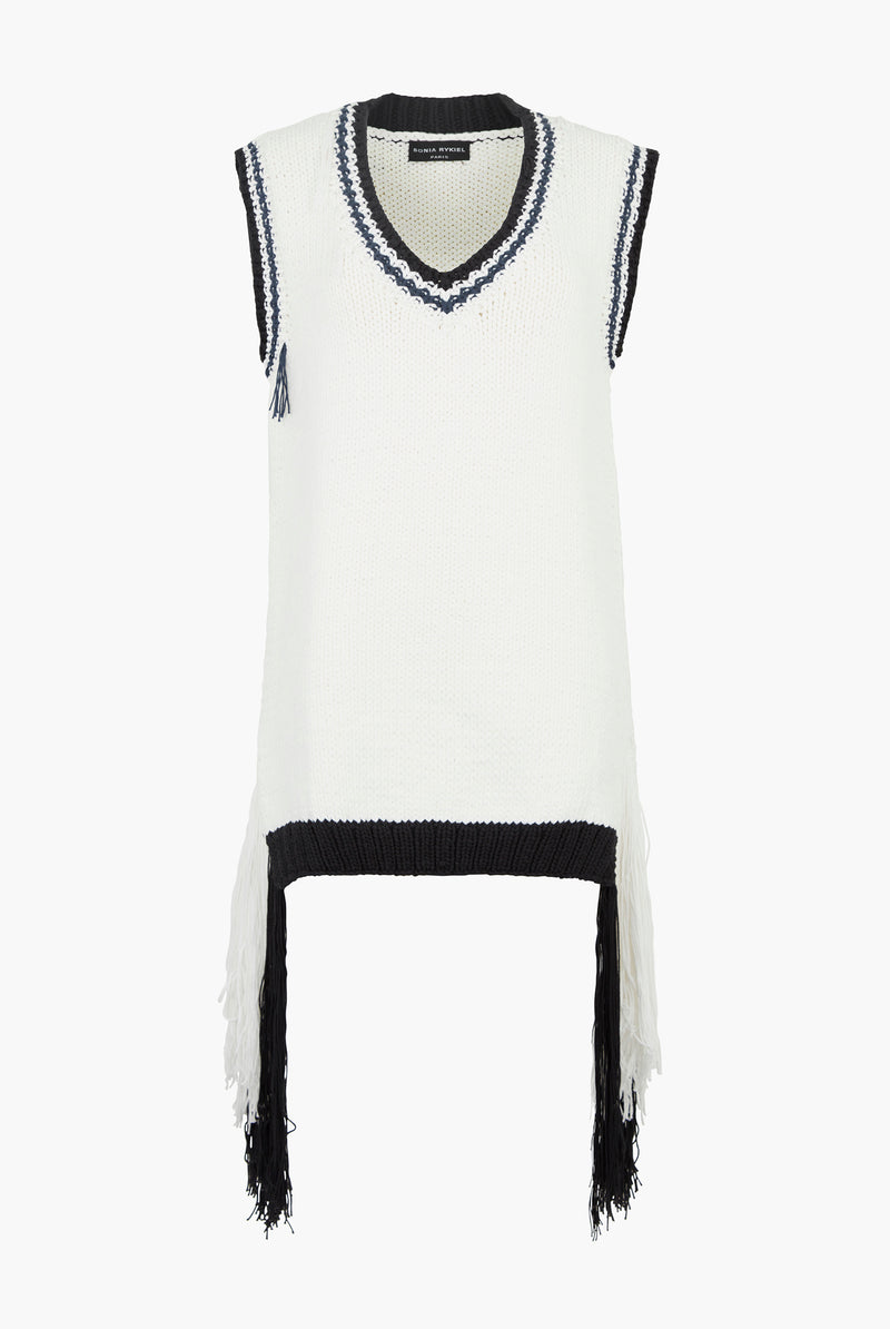 V-neck Sleeveless Sweater