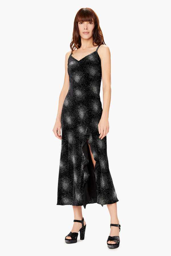 Robe En Velours Constellation Noire