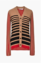STRIPED CASHEMERE CARDIGAN