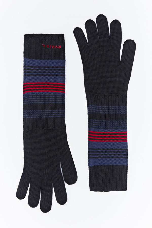 Rykiel Lapis Blue Gloves