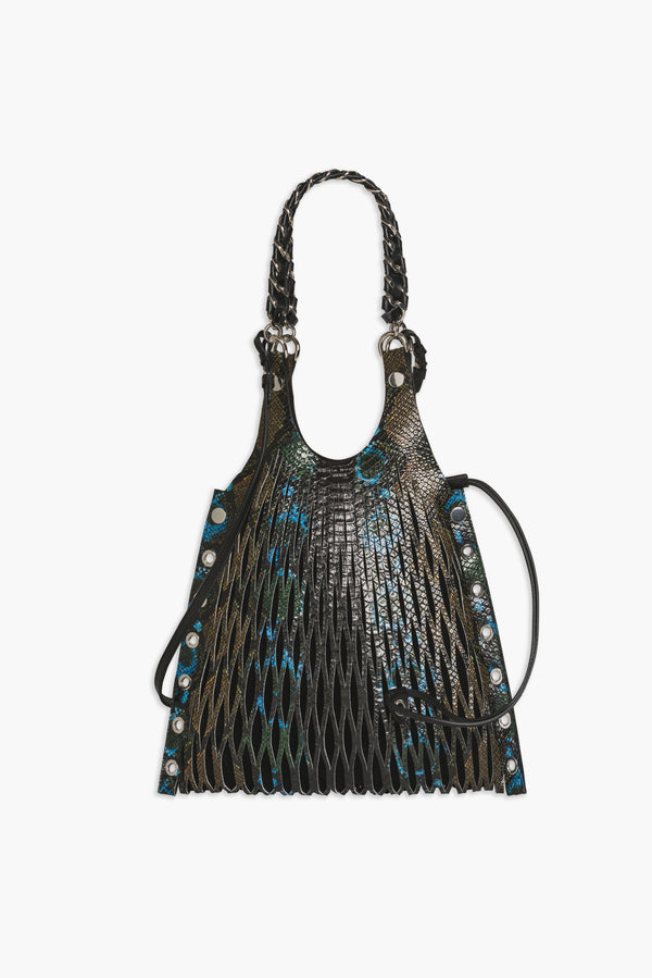 Le Baltard tote bag in python printed calf leather