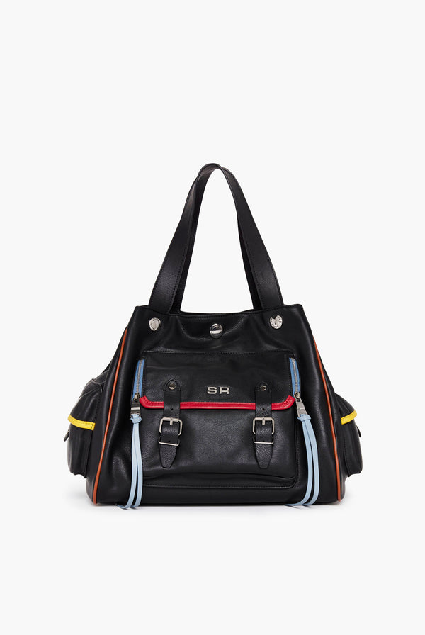Multicoloured Leather Luxembourg Handbag