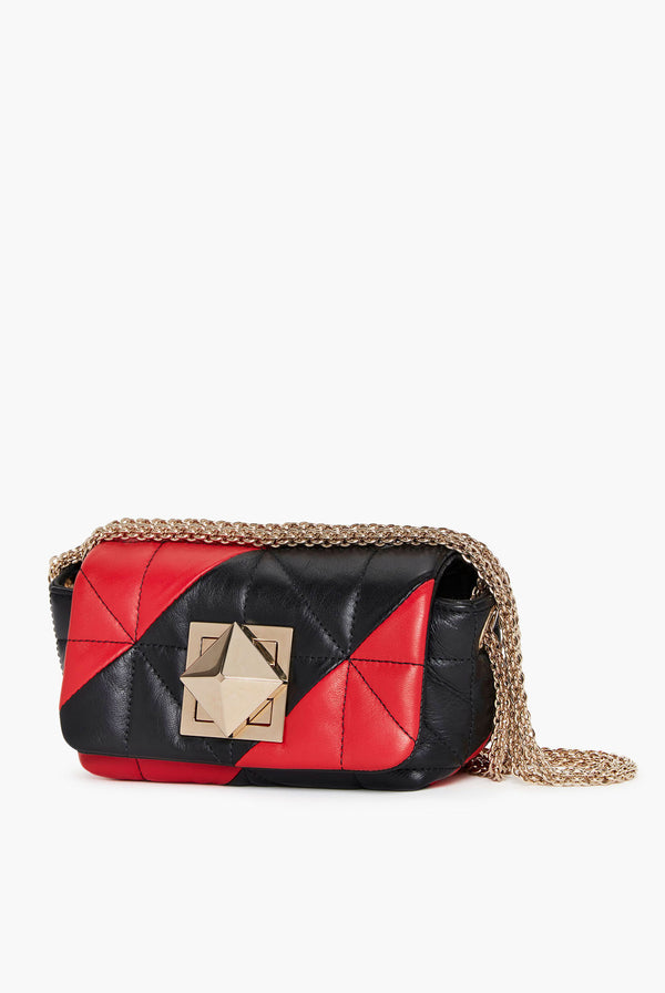 Le Copain Bicolore Black And Red Bag