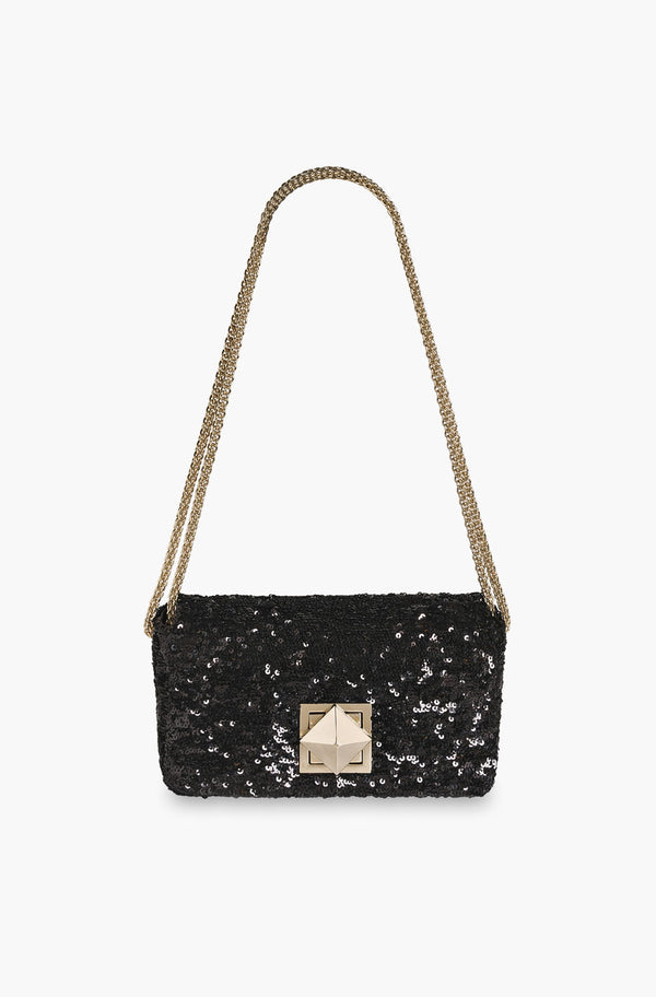 Le Copain Black Sequins Medium Model