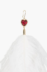 White Feather Earring
