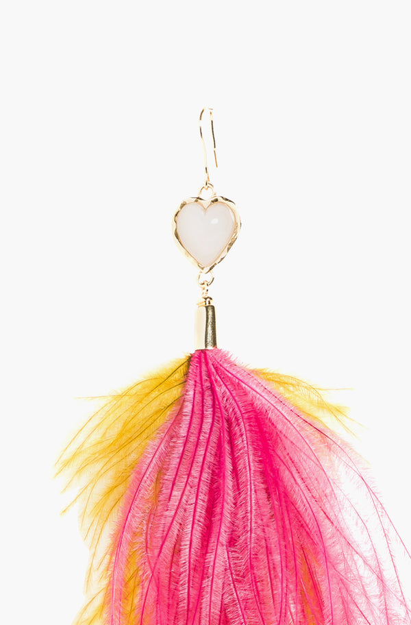 Nymph Pink Feather Earring