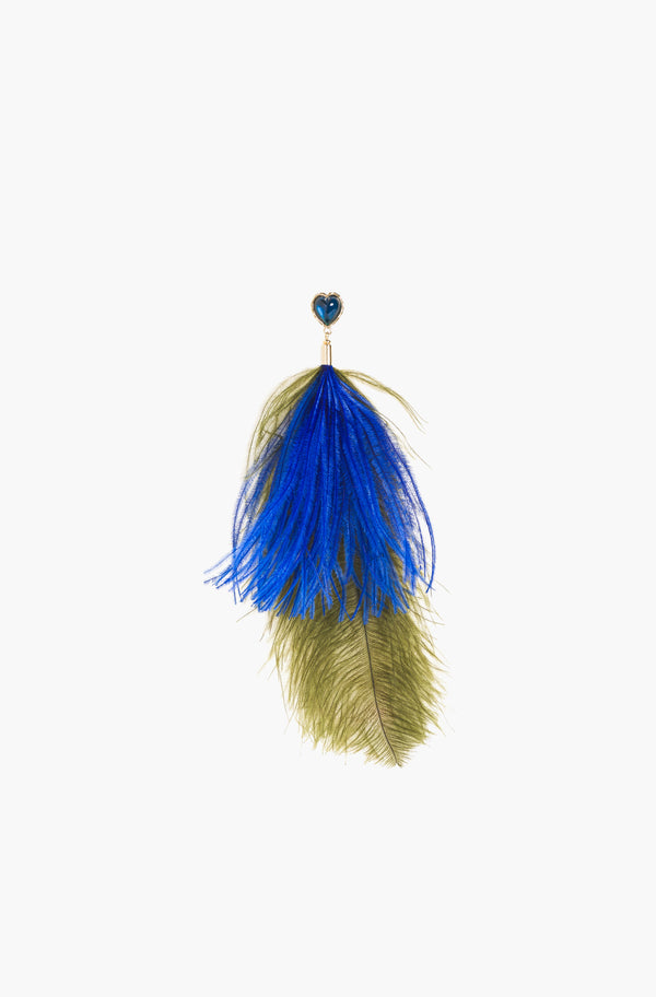 Royal Blue Feather Pins