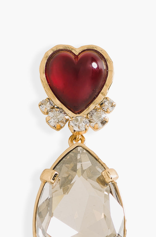 Pins Coeur Et Strass Rouge
