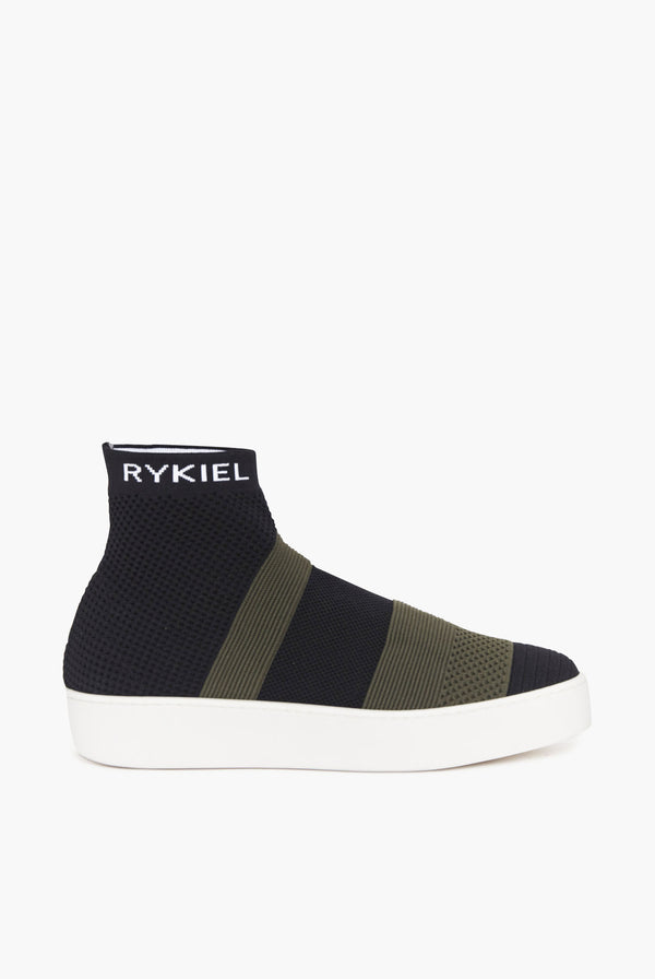 Striped Knitted Sneaker Slip-On