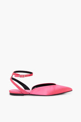 Ballerines Sling Back En Satin