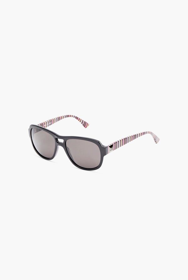 Aviator Striped Sunglasses