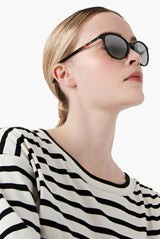 Black Round Frame Sunglasses