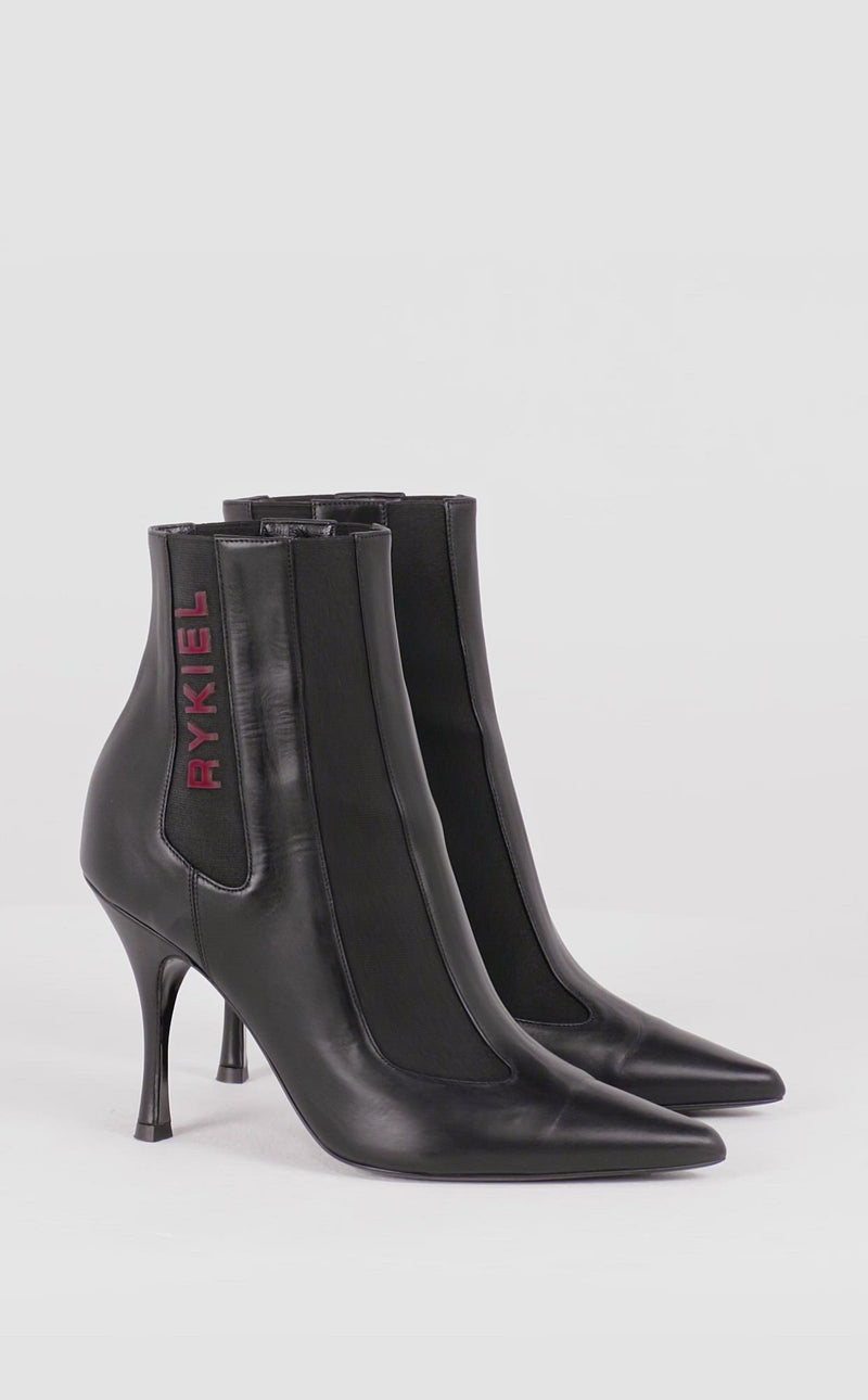 Rykiel Leather And Elastic Boots