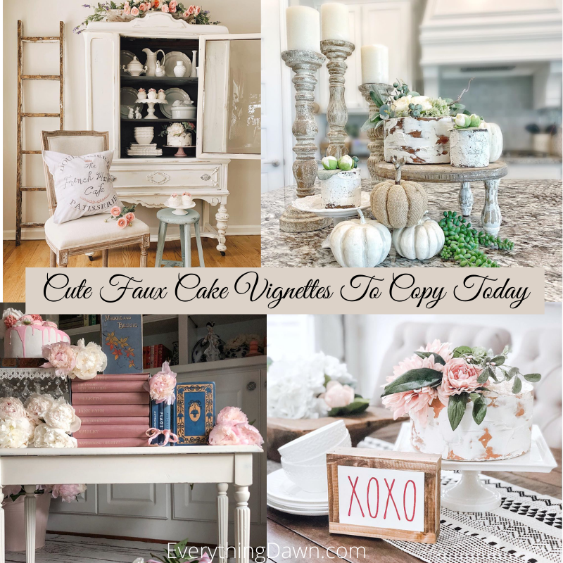 Cute Faux Cake Vignettes To Copy Today