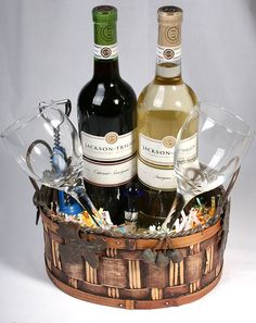 Wine gift basket for Easter