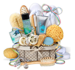 spa gift basket for easter