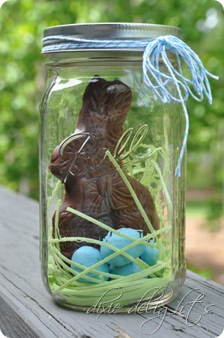 Easter Basket In a Mason Jar