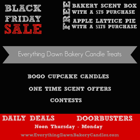 Black Friday Bakery Candle Sale