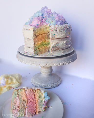 Cotton Candy Naked Cake