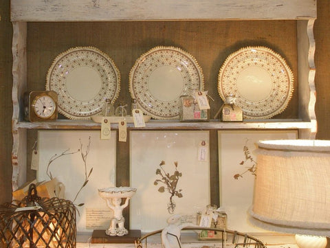 kitchen diy wall shelf with plates and decor