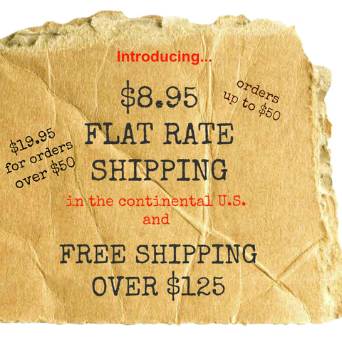 flat rate shipping note