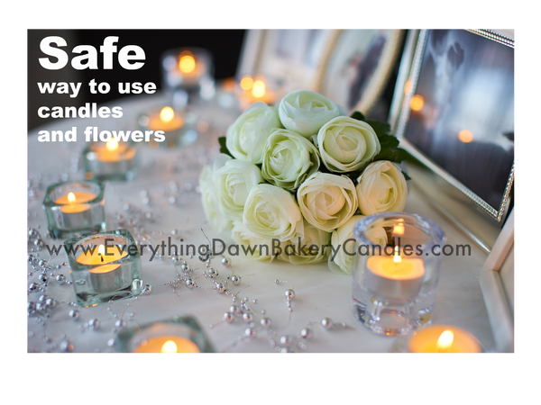 Proper Way to Use Candles With Flowers