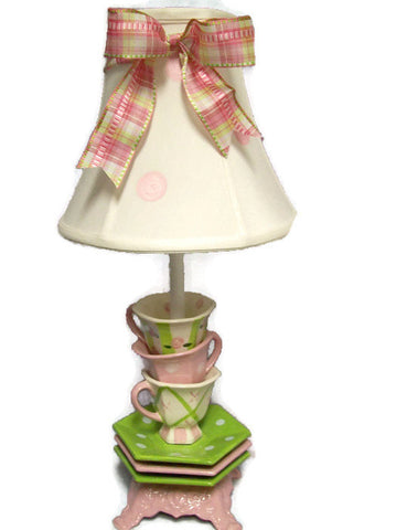 handmade tea cup lamp