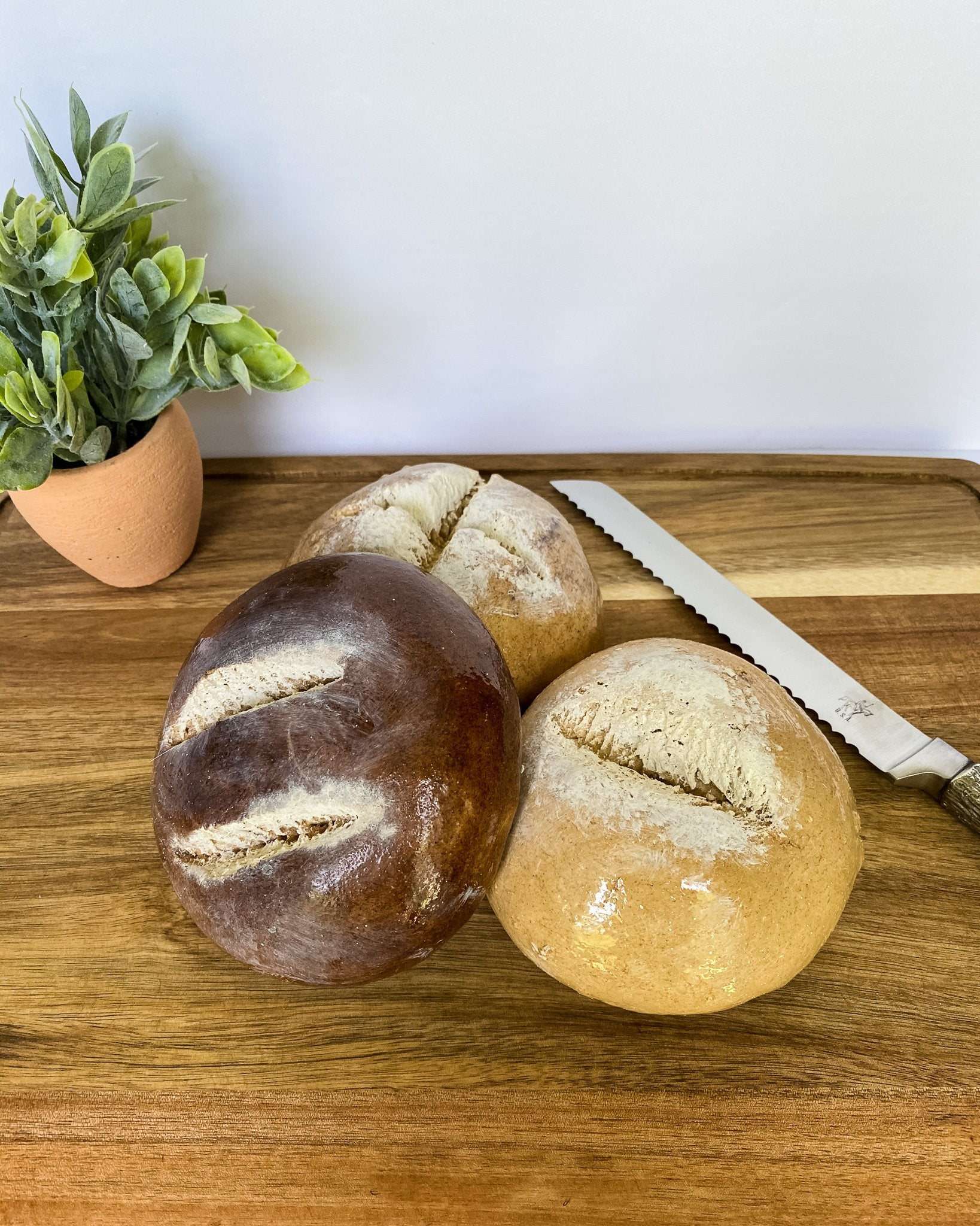 Everything Dawn Bakery Candle Treats Fake Bread Fake Rustic Round Bread Single Loaf
