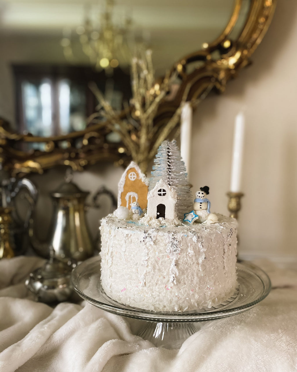 Everything Dawn Bakery Candle Treats Fake Cake Faux Cake in Christmas Village
