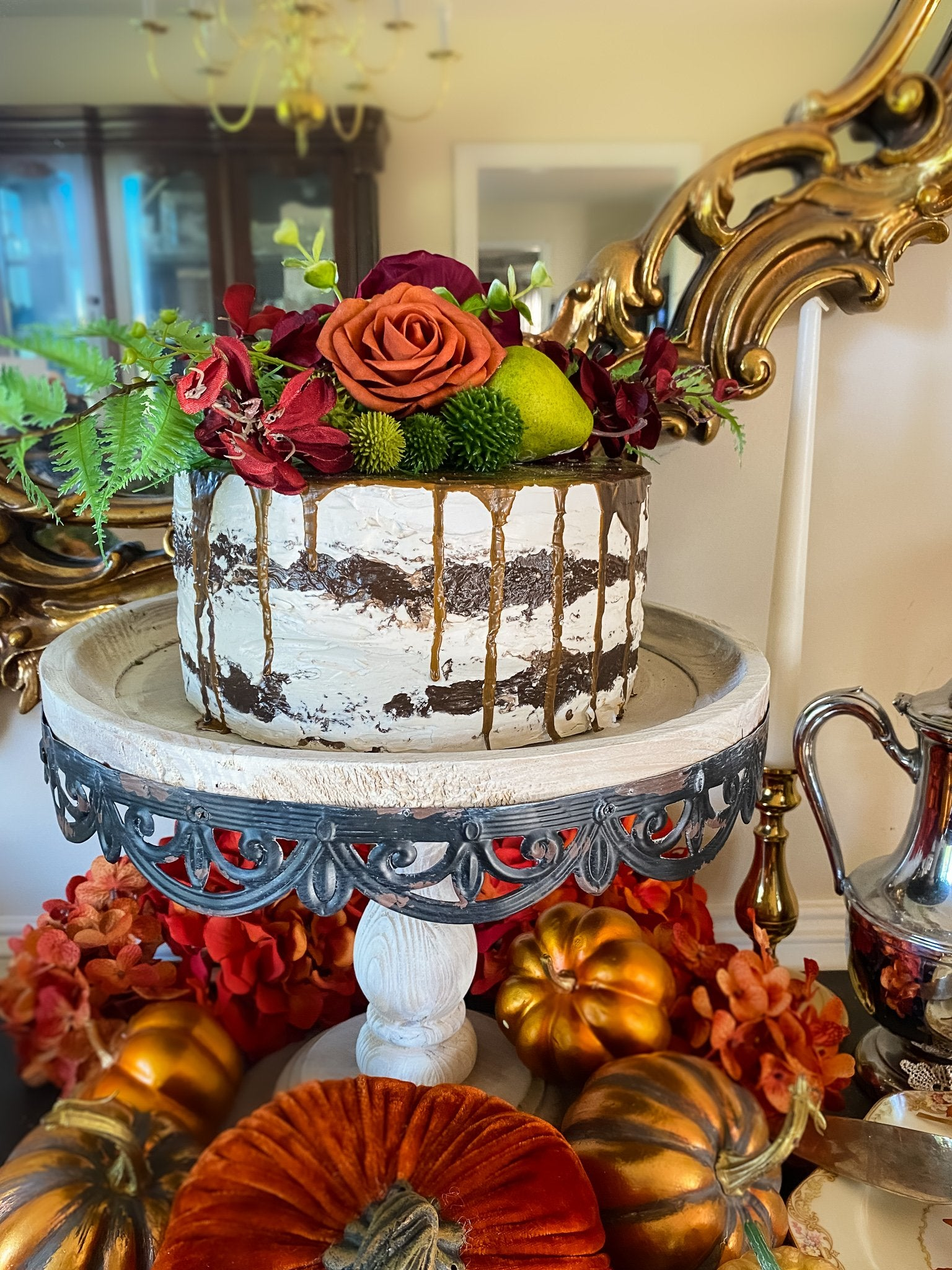 Everything Dawn Fake Cake Autumn Pear Naked Faux Cake