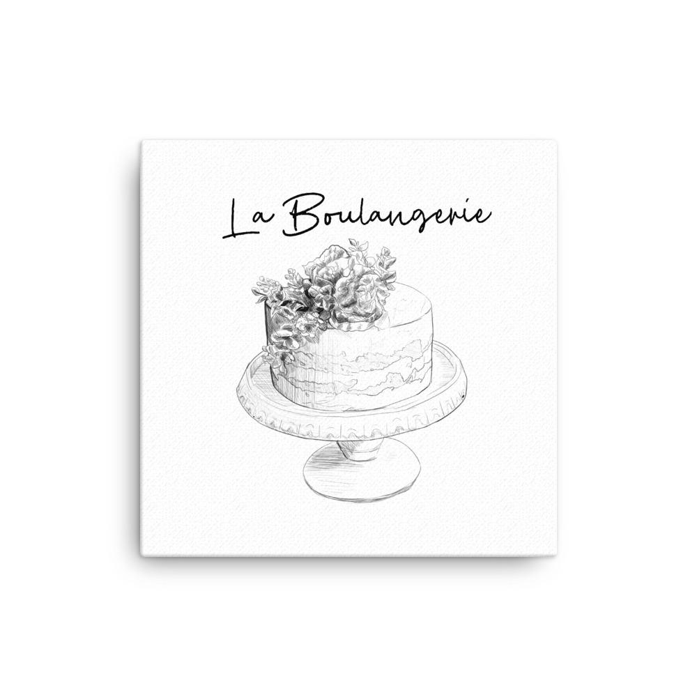 Everything Dawn Wall Canvas La Boulangerie BW Canvas