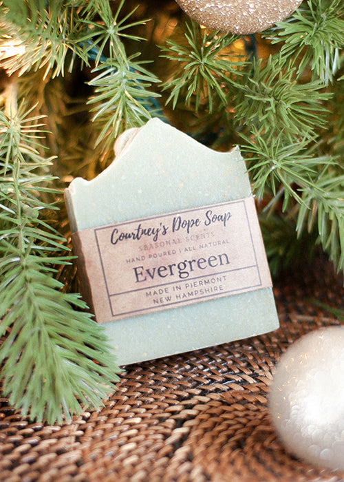Soap - Hand poured local - Evergreen