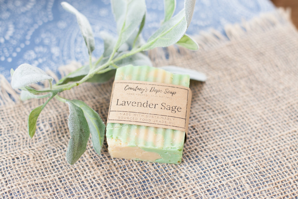 Soap - Hand poured local - Lavender Sage
