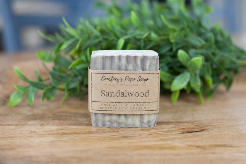 Soap - Hand poured local - Sandalwood