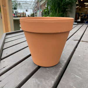 "8"" Standard Terra Cotta Clay Pot"