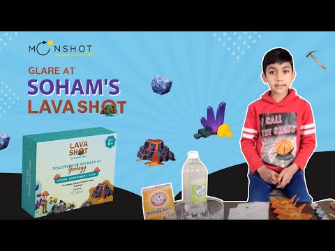 Load and play video in Gallery viewer, Lavashot| 3-In-1 Earth Science Diy Stem Kits for Kids includes Volcano Eruption, Excavate Gemstones,Crystal Growing