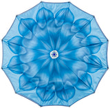 CHIC Blue Flower with round jeweled handle -  COMPACT