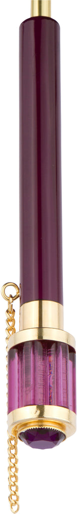 LUXE Purple Flower with lucite jeweled handle
