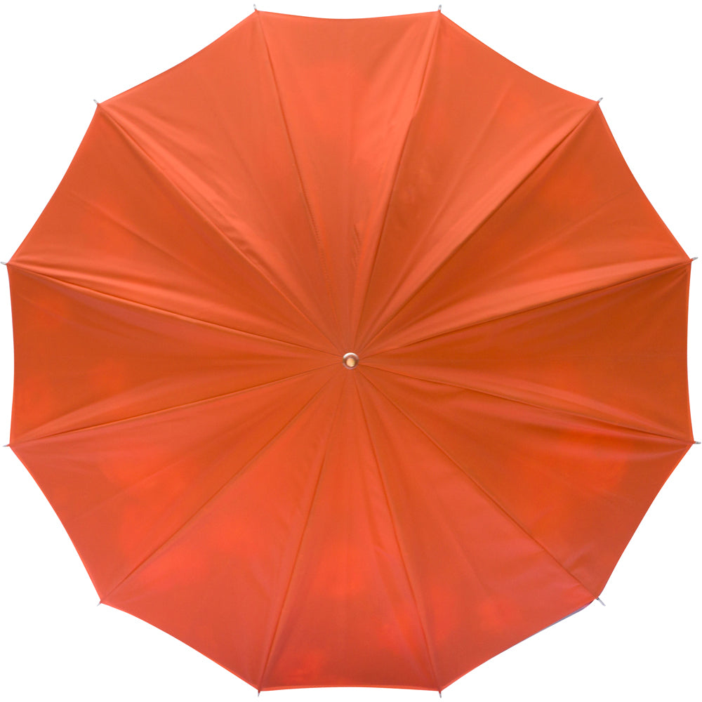 LUXE Orange Flower with curved genuine bamboo handle - ON SALE