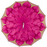 CHIC Pink Flower with lucite jeweled handle - COMPACT