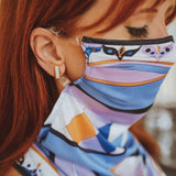 Pucci inspired 50+ UPF mask/scarf hybrid - SOLD OUT