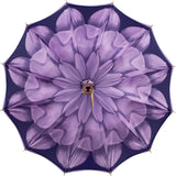 LUXE Purple Flower with lucite jeweled handle - ON SALE