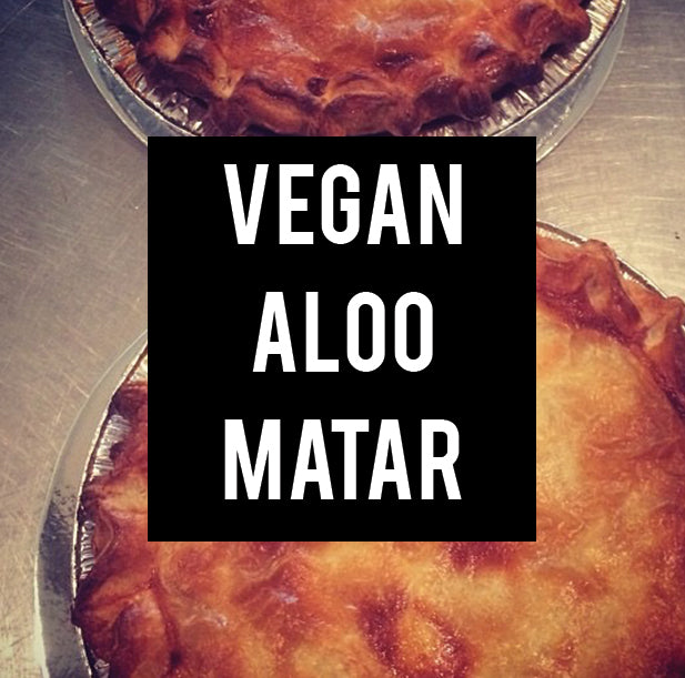 vegan aloo matar family pie