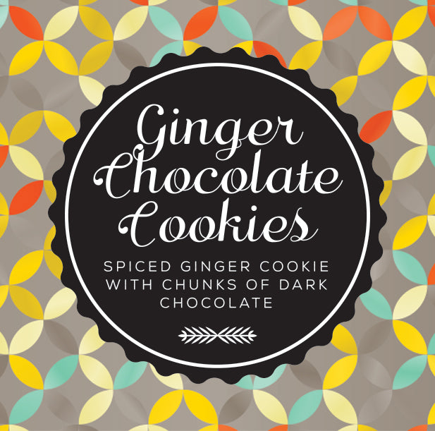 chunky choc ginger cookies
