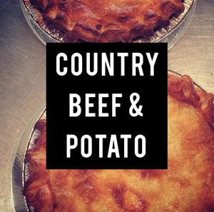 country beef & potato family pie